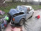 obrázek ke článku: Motorkář nepřežil čelní střet s osobním vozidlem.