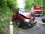 obrázek ke článku: Čelní střet osobních vozidel u Poličné