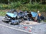 obrázek ke článku: Tři mrtví a tři těžce zranění – bilance autonehody u Bystřice pod Lopeníkem