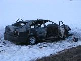 obrázek ke článku: Čelní střet nákladního a osobního vozidla nepřežil jeden člověk