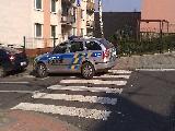 obrázek ke článku: Parkování policejního vozu na přechodu pro chodce v Ústí nad Labem