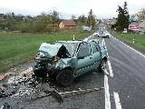 obrázek ke článku: Tragický čelní střet dvou osobních vozidel na plzeňsku
