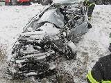 obrázek ke článku: Polský řidič kamiou na sjetých gumách smetl v protisměru Octavii a zabil řidiče