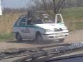 obrázek ke článku: Kuriózní maskování policejního vozu při měření  rychlosti