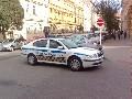 obrázek ke článku: Městská policie Brno parkuje uprostřed křižovatky